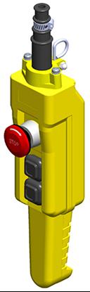 Conductix 3-Button 80 Series Pistol Grip Pendant, with E-Stop