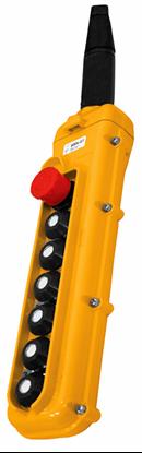 7-Button Magnetek SBN-7 Pendant with E-Stop Button