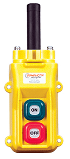 Conductix 2-Button 80 Series Pendant with On/Off Switches