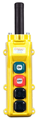 Conductix 4-Button 80 Series Pendant with On/Off Switches