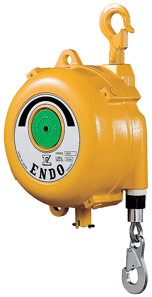 Endo ELF Series Long Stroke Spring Balancer with Gauge - Front
