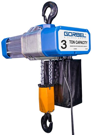 3-Ton Gorbel GS Electric Chain Hoist, Three Phase, GECH-3