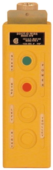 Duct-O-Wire RPB-2 Series Pendant Push Button Station with On/Off Buttons